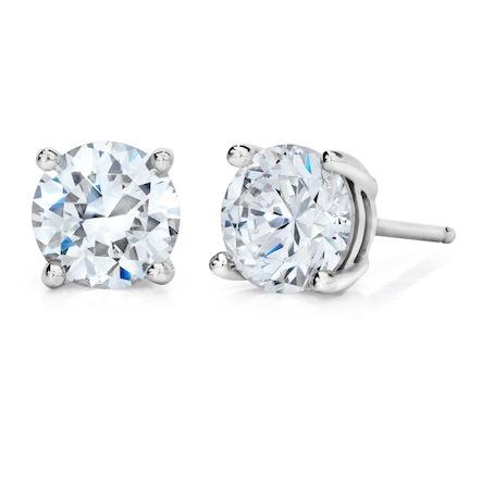 1/4 Carat 4-Prong Basket Style Diamond Stud Earrings, courtesy of Kimberfire